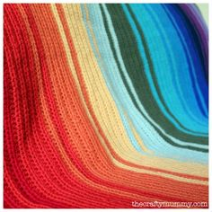 Crochet Rainbow Blanket Tutorial  #crochet #rainbow #tutorial