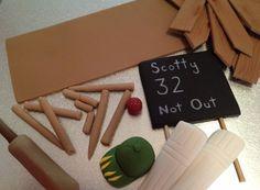Cricket Cake Topper Set edible fondant icing