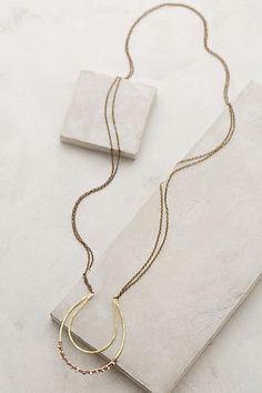Shimmered Horseshoe Necklace - anthropologie.com #anthrofave