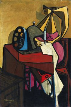 La Máquina de Coser, 1943, Oscar Dominguez.