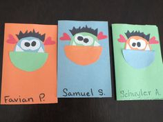 Made these Valentine Monster cards today for the boys in my daughter's class.
