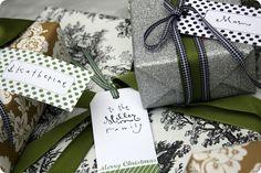christmas gift tags. #free #printables #christmas