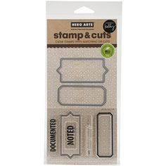 Hero Arts - Kelly Purkey Collection - Die and Clear Acrylic Stamp Set - Documented $15