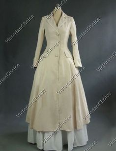 High Quality Victorian Edwardian Downton Abbey Steampunk Frock Coat Dress Reenactment Costume C002