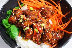 A sensational, low syn, Fakeaway recipe for Sticky Sesame Chicken Pieces that will beat anything from your local takeaway! Cooking Recipes, Healthy Recipes, Healthy Food, Easy Eat, Sesame Chicken, My Cookbook, Lunch Meal Prep, World Recipes, Chicken Recipes