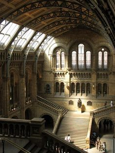 entrance hall of the Natural History Museum, London