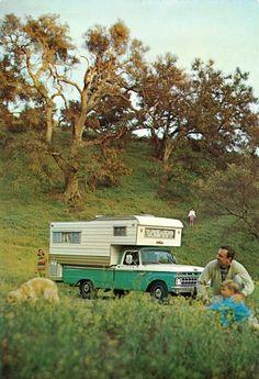 vanderbeer:  1965 Ford F-100 Camper Special Pickup Truck with Camper by coconv on Flickr.