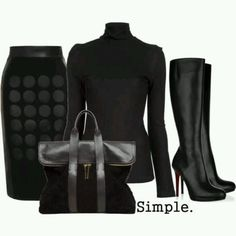 A fashion look from August 2012 featuring turtle neck sweater, fur-collar leather jackets and pencil skirts. Browse and shop related looks. Lila Outfits, Classy Outfits, Chic Outfits, Fashion Outfits, Womens Fashion, Fashion Trends, Fashion Pics, Looks Style, My Style