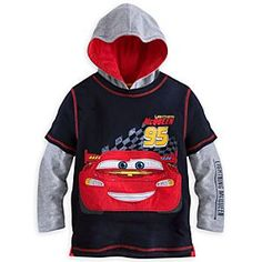 Disney Lightning McQueen Double-Up Hoodie Tee for Boys | Disney StoreLightning McQueen Double-Up Hoodie Tee for Boys - He'll shift into the fashion fast lane wearing this sporty layered-look, double-up tee with contrast lined hood and Cars appliqu�.
