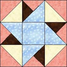 Block of Day for March 30, 2014 - Crow's Nest  - nice color contrast to accent the design