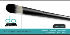 This brush is best used for blending concealer under your eyes or to highlight the tops of your cheeks. #doActiveProducts