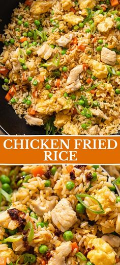 Seasoned Rice Recipes, Stir Fry Recipes, Cooking Recipes, Chinese Chicken, Chinese Food, Chicken Seasoning, Quick Meals, Fried Chicken, Fried Rice
