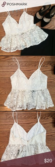 NWT Regina Fly Away Cami NWT Lace crop cami from Guess! Guess Tops Crop Tops