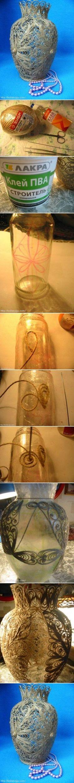 DIY Cord Vase DIY Projects
