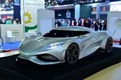 Koenigsegg Utagera concept designed by 15-year-old on display in Thailand.