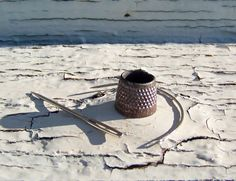 Antique Rusty Tailors Thimble Open Top Thimble by cynthiasattic