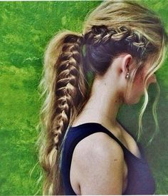 Ponytail Hair Style 2015 with Braid