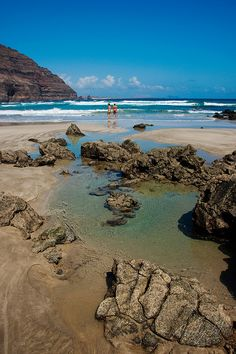 Playa de Atrás, Órzola, Lanzarote, Canary Islands, Spain