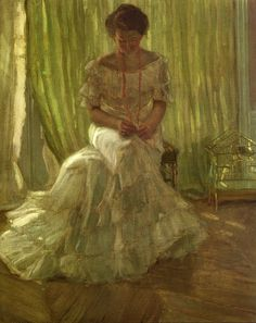In the Sun - Medora Clark in the Clark Apartment, Paris, 1903  - Frederick Carl Frieseke