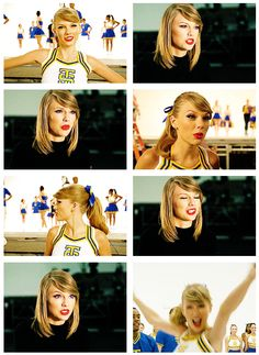 Shake It Off outtakes (gifset: http://stealingmyhearts.tumblr.com/post/95937508236/shake-it-off-outtakes-cheerleaders)
