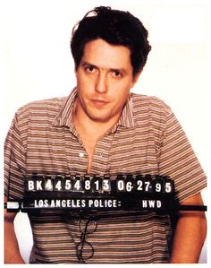 """18. Hugh Grant - In June of 1995, """"Mickey Blue Eyes"""" was feeling quite randy when police caught him in the act with a hooker named Divine Brown. Grant pleaded guilty to a misdemeanor lewd conduct charge and was sentenced to two years probation."""
