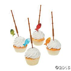 Fisherman Fishing Pole Cupcake Picks  25 pcs ** Check this awesome product by going to the link at the image.