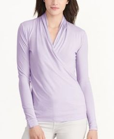 Lauren Ralph Lauren Ponte Surplice Top | Lauren Ralph Lauren! | Pinterest | Surplice  top, Clothing apparel and Dillards