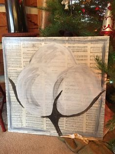 Www.Paintedinprayer.Etsy.Com  hymnal pages and cotton ... Picturing this in my hallway!