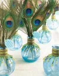 1000 Ideas About Peacock Wedding Centerpieces On