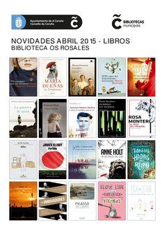 Novelas xuvenís e de adultos, libros da Biblioteca Verde, de Galicia Móvese... Todos dispoñibles para levar en préstamo, na Biblioteca Os Rosales, dende o mércores 1 de abril de 2015.