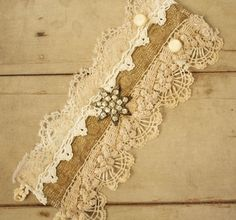 Layered Antique Lace Cuff Recycled Romantic by ElegantFarmhouse