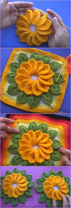 Petal Flower Hotpad and Flower