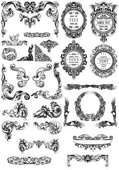 Royalty Free Images - Vintage Decorative Ornaments Clip Art ...
