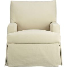 Hathaway Swivel Glider in Chairs | Crate and Barrel 29wx36dx30h