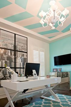 tiffany-blue-womans-office                                                                                                                                                     More
