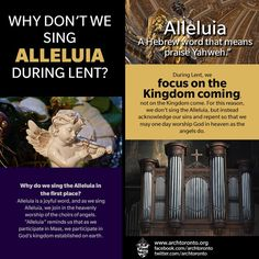 Why Don't we Sing Alleluia during Lent