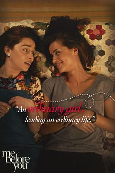 Extraordinary things can happen to ordinary people. | Me Before You, starring Emilia Clarke (Game of Thrones) as Louisa Clark, Sam Claflin (The Hunger Games) as Will Traynor, Jenna Coleman (Doctor Who, Victoria) as Treena Clarke and Matthew Lewis (Harry Potter) as Patrick.  Download, watch and fall in love tonight. Download, watch and fall in love tonight. Out now on DVD and Blu-Ray.