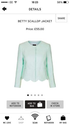 Topshop | Scallop Jacket