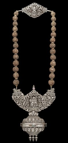 Wrought silver necklace -- antique Indian   bling