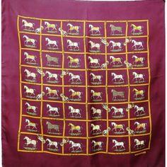 carréhermès,petitschevaux,JacquesEudel,rare,collector,1974,sciarpa,bufanda,hoofddoek,scarf,luxeoccasion,luxuryvintage,tuch
