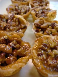 Mini Pecan Pies ~ using frozen pre-made pie crust so they literally take no time to make!