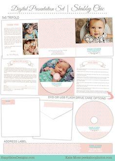 Digital Presentation Set for Photographers     #cd label #dvd label #photography packaging #presentation #photography #trifold #print release #photography marketing