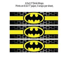 Batman Inspired Party Drink Wraps - Lego Batman - Ideas of Lego Batman - Batman Inspired Party Drink Wraps Baby Batman, Batman 2, Batman Stuff, Batman Birthday, Disney Cars Birthday, Batman Party Decorations, Batman Party Supplies, Superhero Party, Boy Birthday Parties