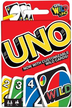 Uno-Card-Game With Customizable Wild Cards Family Fun By Mattel , Couple Games, Family Games, Games For Kids, Games To Play, Fun Games, Group Games, Party Games, Uno Card Game, Uno Cards