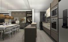 Cozinha e jantar para apartamento