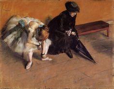 Waiting (1882) Edgar Degas