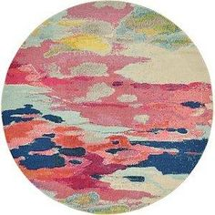 6 to 7 Ft Rounds Pink Modern Rugs   iRugs UK