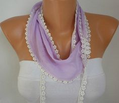 WAS 15 NOW USD 990    Lilac Scarf    Headband Necklace by fatwoman, $9.90