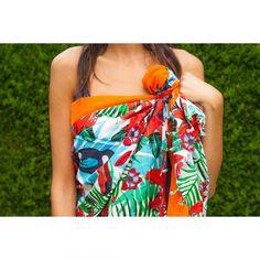 Pareo playa algodón Tropical Shoulder Dress, One Shoulder, Blouse, Tops, Dresses, Women, Fashion, Role Models, Soft Colors