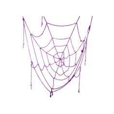 Spinnenweb paars 160 cm. Dit paarse decoratie spinnenweb is gemaakt van slierten kunststof en heeft een diameter van ca. 160 cm.